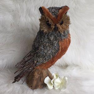 """🆕Pottery Barn 11"""" Bottle Brush Straw Owl"""